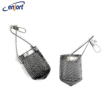 Enjort 5pcs/lot Fishing bait cage hook bait baskets Mini trout-fly play device nest lure cage small Bait Thrower Container