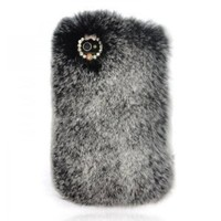 Cony Hair Rhinestone Cover for iPhone 4 / 4s: Cell Phones & Accessories
