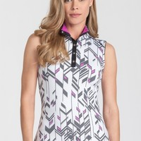 Tail Ladies DECO VIBE Charice Sleeveless Golf Tops - Deco