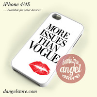 More Issues Than Vogue Phone case for iPhone 4/4s and another iPhone devices