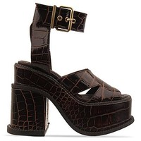 Vivienne Westwood Gold Label Platform Sandal in Cocco Lucido at Solestruck.com