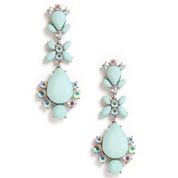 Mint Matte Tear Cluster Earrings