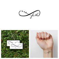 Infinity Faith Symbol - Temporary Tattoo (Set of 2)