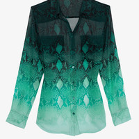 PREORDER Equipment EXCLUSIVE Ombre Python Print Chiffon Blouse-Tops-Clothing-Categories- IntermixOnline.com
