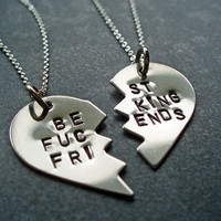 BFF Split Heart Necklaces  Best Friends Forever Best by TwentySix7