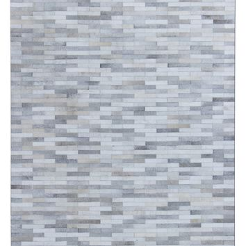PCH 150 Silver patchwork Cowhide Rug