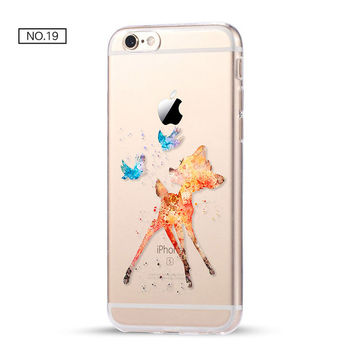 Bambi Clear Soft Disney Phone Case For iPhone 7 7Plus 6 6s Plus 5 5s SE C