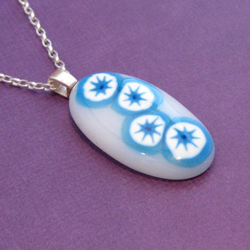 Etsy Fashion Necklace Fused Glass Necklace Kawaii by mysassyglass