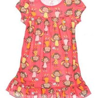 Carters Girls 2T-4T Monkey Pajama Gown $11.99 - $13.99