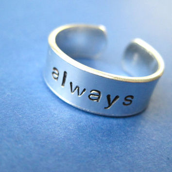 ALWAYS Ring Personalized Hand Stamped Ring by TesoroJewelry