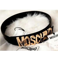 Perfect Moschino Letters Belt Fashion Wild Candy Candy Belt