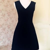 LITTLE BLACK DRESS  -Tea Length Black Dresses Women - lbd - Black Cocktail Dresses - Black Dress for formal occasions - magic1668