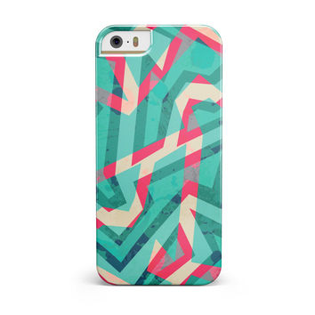 Trippy Retro Pattern iPhone 5/5S/SE INK-Fuzed Case