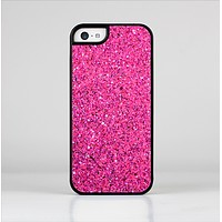 The Pink Sparkly Glitter Ultra Metallic Skin-Sert for the Apple iPhone 5c Skin-Sert Case