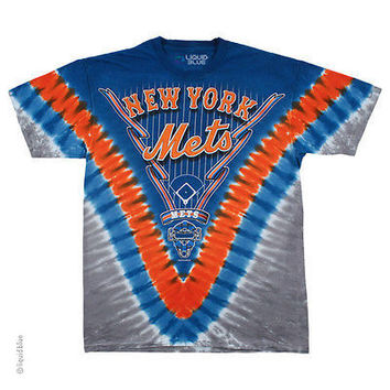 New York Mets Tie Dyed T-Shirt by Liquid Blue