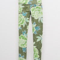 Aerie MOVE High Waisted 7/8 Legging, Olive Fun
