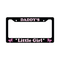 Daddy's Little Girl Funny Car License Plate Frame