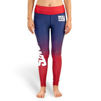 New York Giants Womens Gradient Official NFL Print Leggings