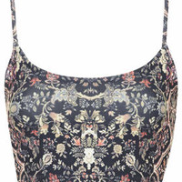 PETITE Exclusive Scarf Print Bralet - Red