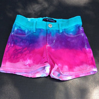 5T tie dyed girl shorts