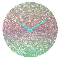 Lisa Argyropoulos Sea Mist Shimmer Round Clock