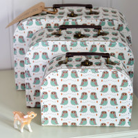 Owl Suitcase Set — Dear Blackbird Homewares