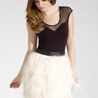 Lipsy Feather Mini Skirt