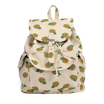 Creative Canvas Pineapple Backpack