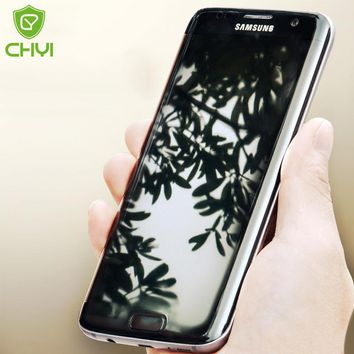 CHYI 3D Curved For Samsung Galaxy S7 Edge Screen Protector S8 Film Front Back Full Screen Coverage With Tools Not Tempered Glass