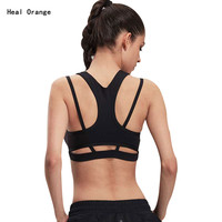 Heal Orange Sport Bra Top Brand Top Fitness Women Sport Bra Top Soutien Gorge Sport Yoga Tops Yoga Bra Women'S Clothing WX14