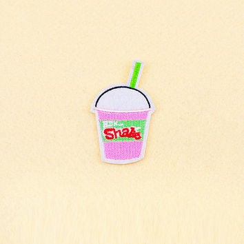 Drink Patch - Shake Patch - Iron on patch -Sew On patch - Embroidered Patch (Size 4.5cm x 7.2cm)