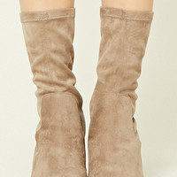 Faux Suede Sock Boots