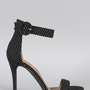 Shoe Republic LA Polka Dot Ankle Strap Heel