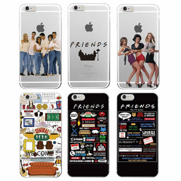 Friends TV Show Funny Central Perk Park Soft Phone Case Cover Coque Fundas For iPhone 7Plus 7 6 6S 6Plus 5 5S SE 5C 4 4S Samsung