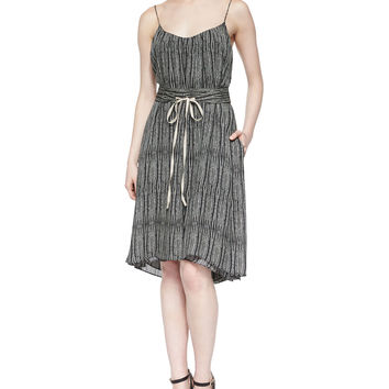 Cobra Tie-Waist Dress, Size: