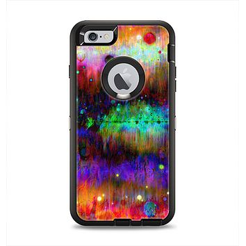 The Neon Paint Mixtured Surface Apple iPhone 6 Plus Otterbox Defender Case Skin Set