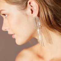 Falling Rhinestone Statement Drop Earring | Urban Outfitters