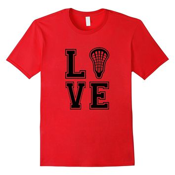 Lacrosse tshirt for girls Love with LAX Stick Head Gift