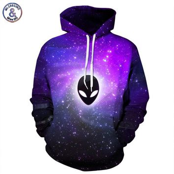 Mr.1991INC New Fashion Men/women Hooded Hoodies With Hat Print Extraterrestrial Autumn Winter Thin Space Galaxy 3d Sweatshirts