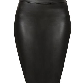 ROCK CHICK FAUX LEATHER SKIRT