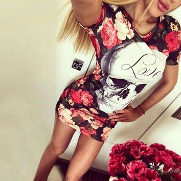 ESBONC. Womens Elegant Flower Floral Printed Mickey Short Sleeve Ruffle Casual bridesmaid Mother of Bride Evening Party Dress