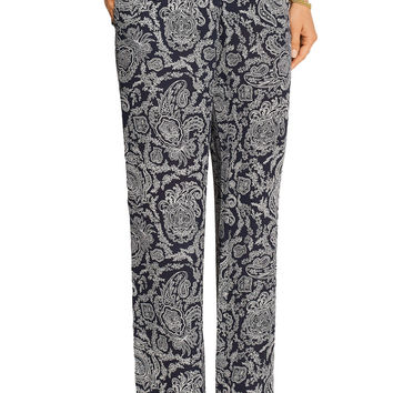 Theory Mitrana printed silk-georgette wide-leg pants – 50% at THE OUTNET.COM