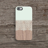 Wood With White Lace Phone Case iPhone Cover