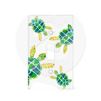 Sea Turtle Fun Kids Switchplate - cute beach house design- decor, home, matching, cute, island, colorful