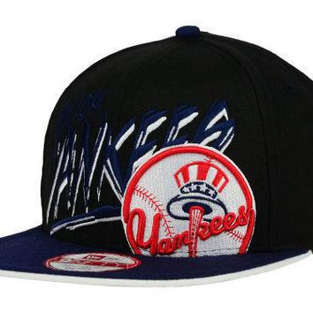 New York Yankees New Era MLB Neon Word Scribbs 9FIFTY Snapback Hat