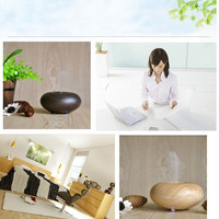 Wood Grain Ultrasonic Air Humidifier Aroma Diffuser