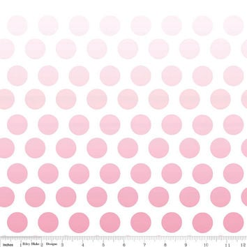 Ombre Hot Pink to Light Pink Polka Dot Quilting Cotton Fabric by Riley Blake Designs, 1/2 Yard, more yardage available