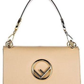 Fendi Women's Leather Shoulder Bag Original Kan I F Beige