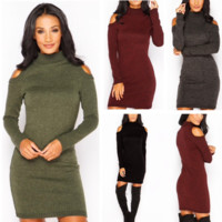 High-Quality High Collar Strapless Dress Sweater 0220 # B0015341