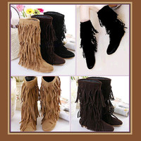 Minnetonka Moccasin Tassel Fringe Mountain Boot